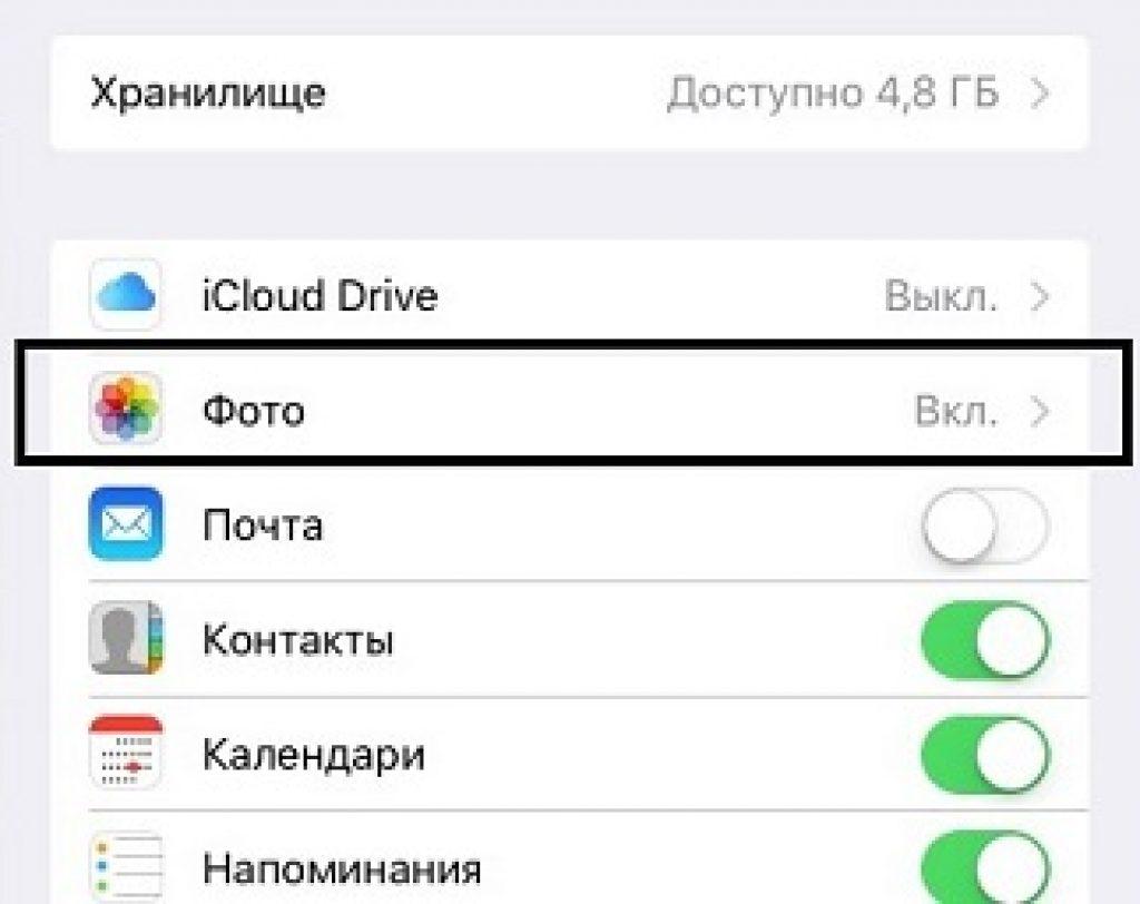 Как перенести фото с айфона в облако